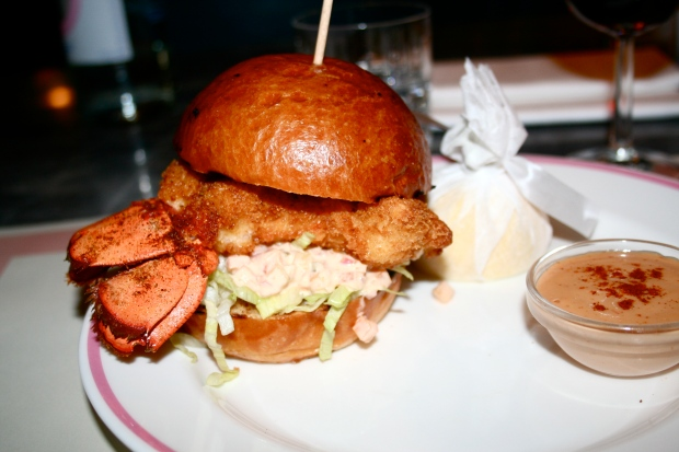 Lobster burger from Bob Bob Ricard picture